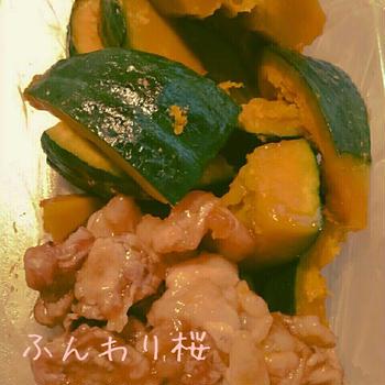 南京と豚コマの煮物✨オイスターソース隠し味