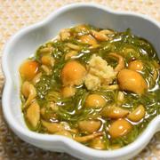 なめことめかぶの酢の物【ぐんまクッキングアンバサダー】味付きめかぶを使って簡単、食物繊維とミネラル豊富な小鉢。