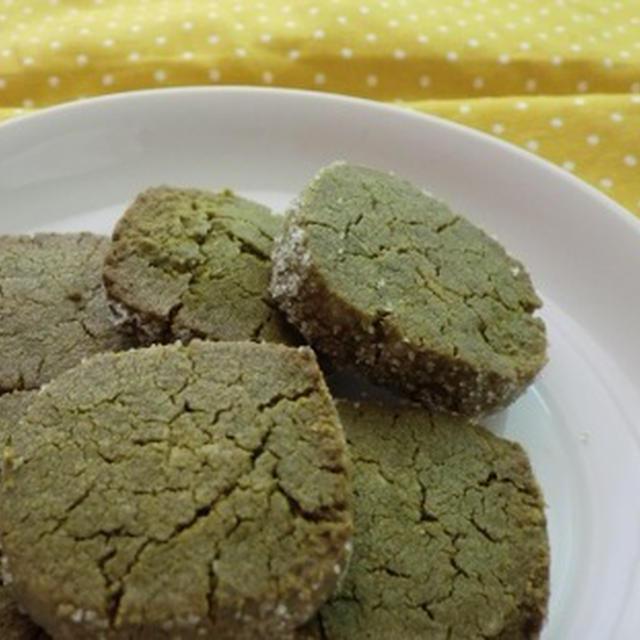 ざっくりとろーり@抹茶ホワイトチョコのクッキー