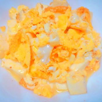 【ヘルシー】豆腐と卵の塩炒め
