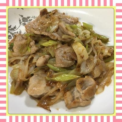 豚肉と長ねぎの自家製塩ダレ炒め(レシピ付)