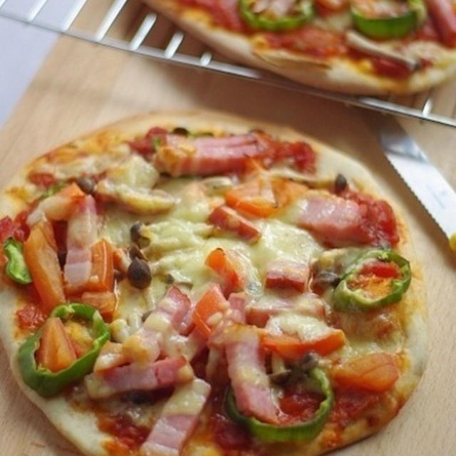 全粒粉炒りの香ばしいピザ生地