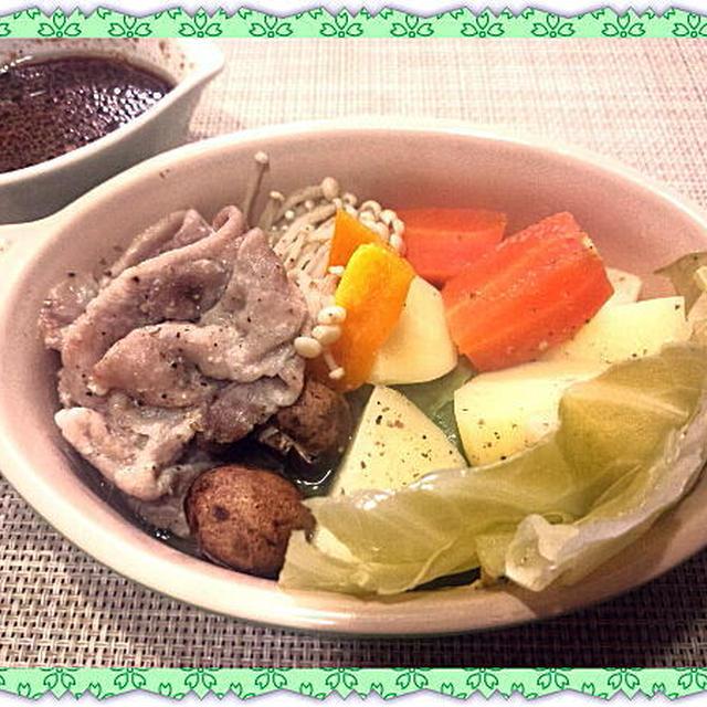 豚肉と野菜の簡単蒸し料理