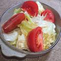 簡単なのに1人じめしたい美味しさ♪レタスとトマトの甘辛酸っぱダレ和え