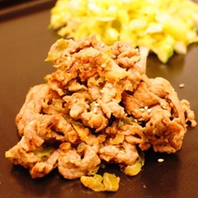 牛肉のヨーグルト味噌炒め