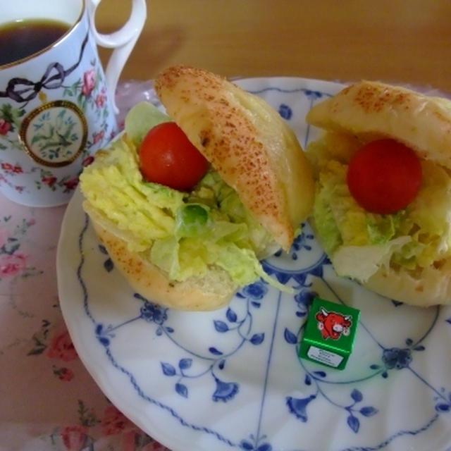 カレーポテトサラダの簡単サンド★★★