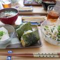 コーンと枝豆のおにぎり、昨日の昼ごはん by はなさん