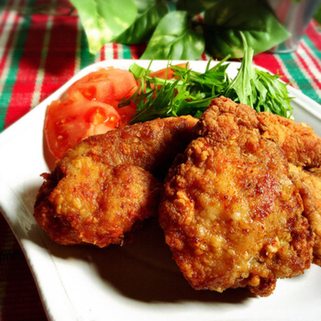 鶏むね肉のフライドチキン