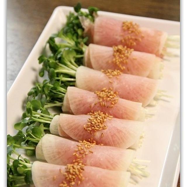 大根と生ハムのロールサラダ&チキンソテー こんだてnote♪