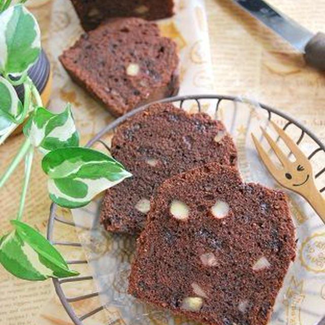 栗の渋皮煮とチョコチップのパウンドケーキ