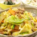 【和食】自家製だれで!「春キャベツのごま味噌炒め」&大根ツナサラダ&ほうれん草のお浸しで晩ごはん。