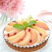 桃のレアチーズタルトケーキを作ったよ。しかもグルテンフリー!