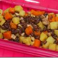 ジャガイモの小豆煮