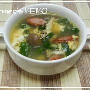 『ニラ玉スープ』   ~休みの朝は元気満々スープがいいね♪~