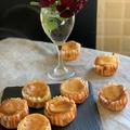 昨日のレッスンはベークドチーズケーキ・・バウンド型と一口サイズを作りました!!