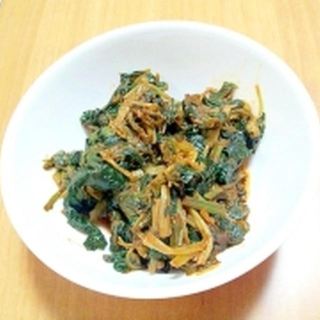 ほうれん草のトマトニンニク風味ソテー