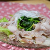 塩ジャンでナムル風豚バラ炒め