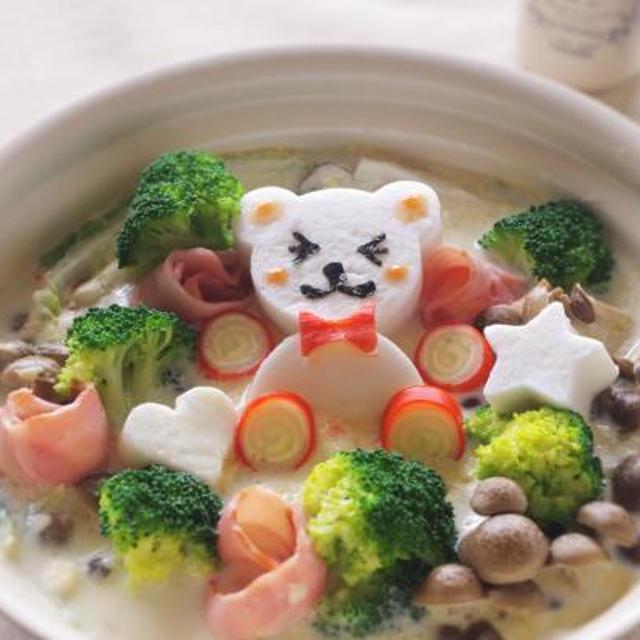 * 子どもが喜ぶデコ鍋 * 白菜とベーコンのチャウダー* NHK仙台「ひるはぴ」さん出演レシピ *