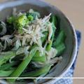 鉄分たっぷり♪小松菜とえのきと小エビ炒めもの