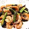 タイ風 海老とアスパラのピリ辛炒め物