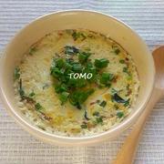 レンジで簡単!理研ビタミン「わかめスープ」 de 茶碗蒸し