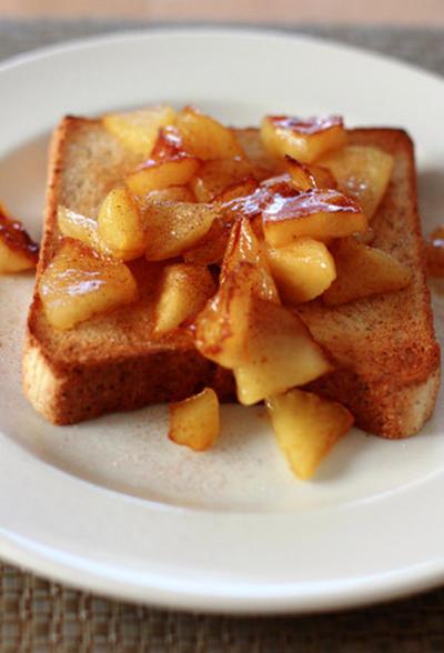 朝ごはん、おやつに「アップルシナモントースト」