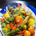 ■菜園野菜フル活用で【簡単!!5分でおつまみ&おかず3品】のご紹介です♪
