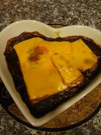 厚揚げのデミグラスチーズ焼き