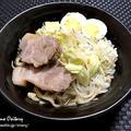 家二郎に挑戦♪~豚と鶏でスープをとった二郎インスパイアの家二郎~