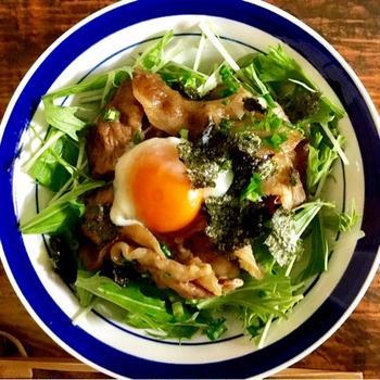 (角煮のタレで!)豚丼