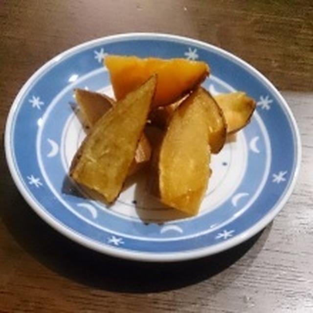 ここ2日の晩御飯。とサツマイモのキャラメルバター風。