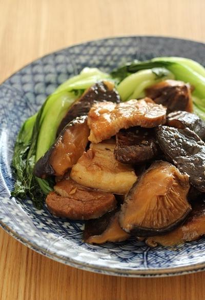 肉厚乾しいたけと、厚切り豚バラの旨煮