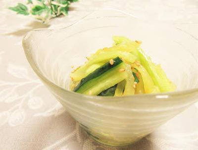 [ガス電気不使用簡単レシピ]胡瓜と沢庵のナムル