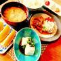 豚肉生姜焼き⤴(金曜日の朝ご飯)