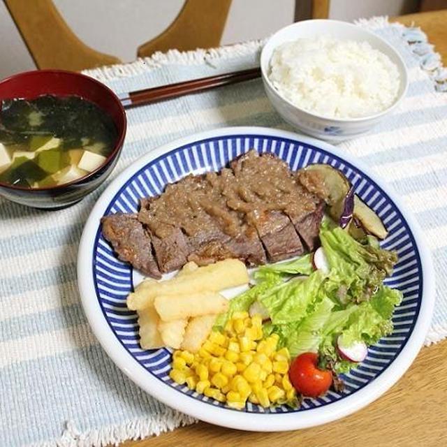 シャリアピン風ステーキでうちごはん(レシピ付)と激安牛乳ゲットだぜぇー!
