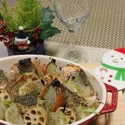 くらしのアンテナで掲載【生秋鮭と野菜のグリル焼き♡プロバンス風】