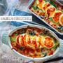 ♡小松菜とゆで卵のグラタン♡【#生クリームなし#簡単レシピ#牛乳#チーズ】