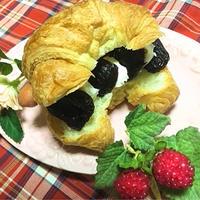 プルーン&クリームチーズ☆ クロワッサントースト