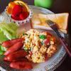 バジルチーズのふわふわトマトオムレツ