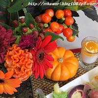 花と料理で楽しむ♪ハッピーハロウィン講座に参加して🎶。