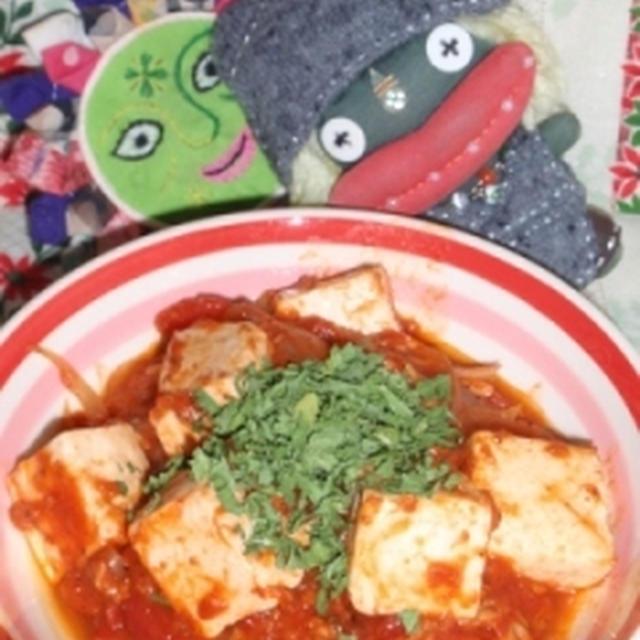 豆腐のツナトマト煮&もやしの梅海苔サラダ(お家カフェ)
