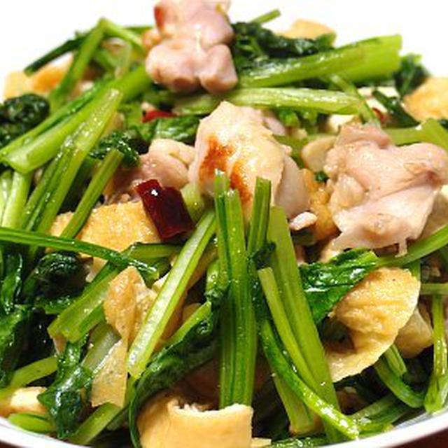 塩こうじ鶏と小松菜の炒め物