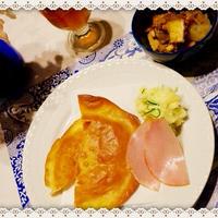 「トスターダ」&「厚揚げと野菜のガラムマサラ炒め」♪