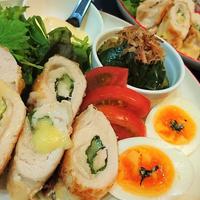 節約★絶品【大葉&とろ〜りチーズの鶏むねロール】