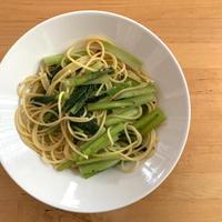 【レシピブログ】小松菜のペペロンチーノ × 群馬の赤