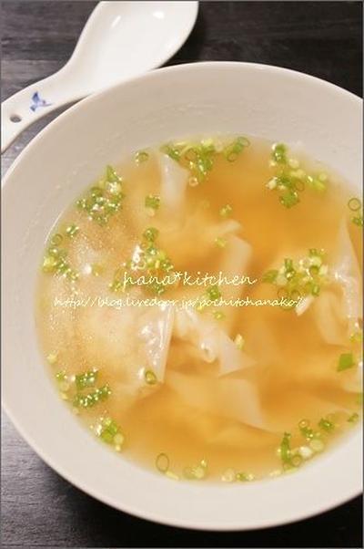 海老ワンタンスープの簡単レシピ。<豚骨スープアレンジ♪>