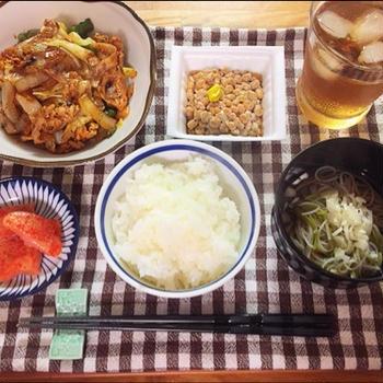 ☆肉野菜炒め定食☆