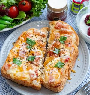 甘塩っぱさがクセになる♡ハニーペッパーWチーズトースト(*゚▽゚*)♪