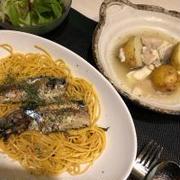 秋刀魚パスタ