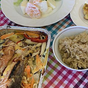 公民館レッスンは和食で・・・オーブンで簡単秋鮭のチャンチャン焼き風など